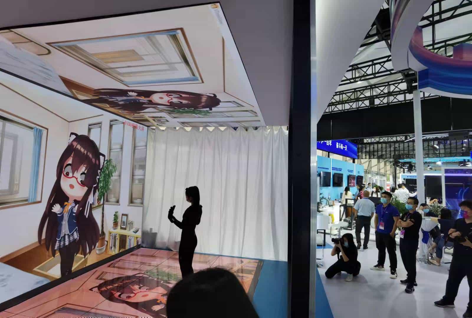 2021科博会现场 虚拟主播元宇宙备受瞩目